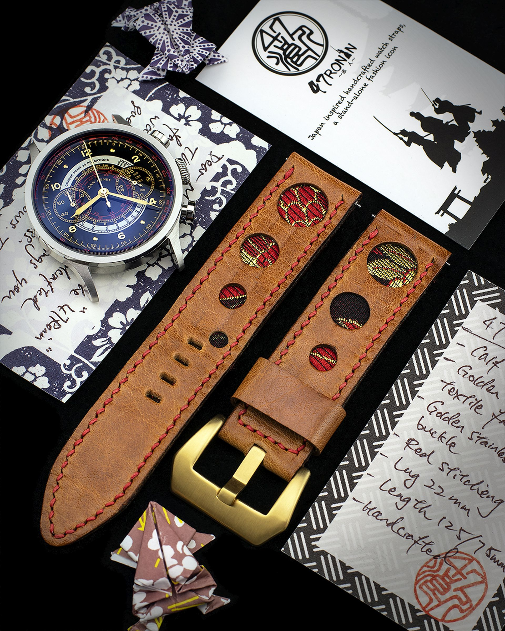 47ronin Bespoke Leather Watch Straps Handcrafted From Exotic Japanese Materials